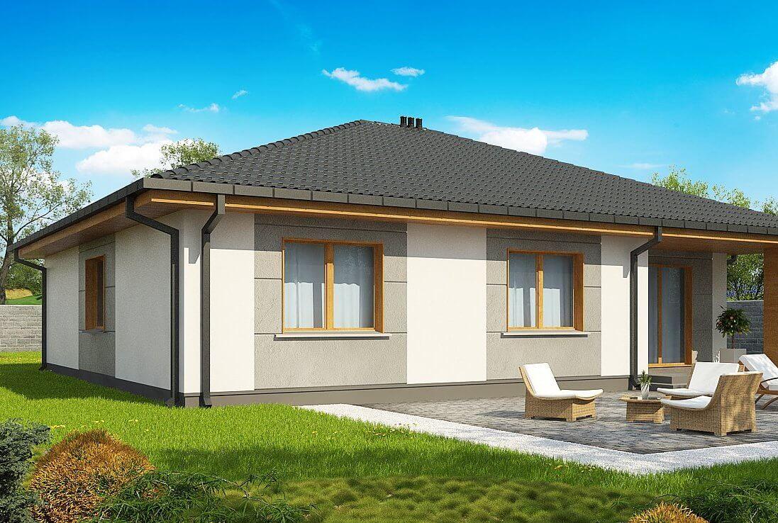 Одноэтажный дом из пеноблока своими руками фото