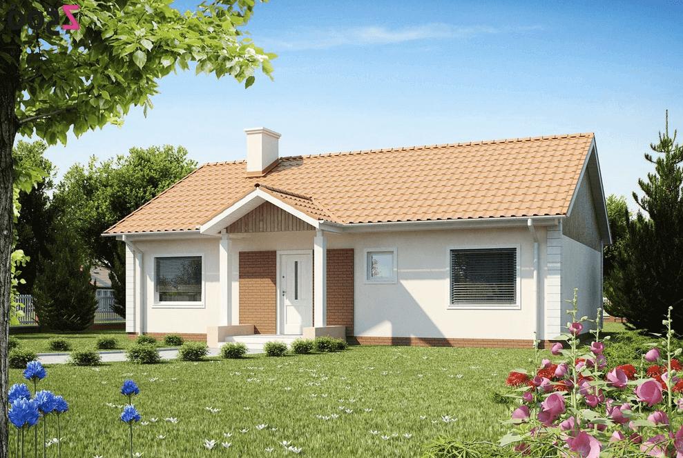 Каркасные дома с двухскатной крышей проекты
