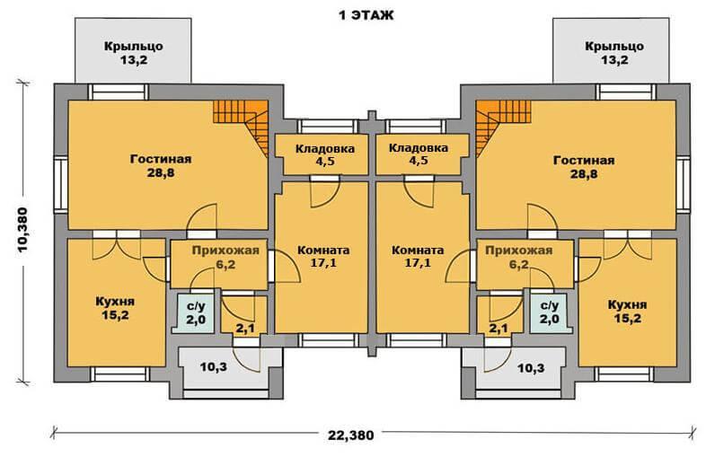 Как построить дом на двух хозяев проекты